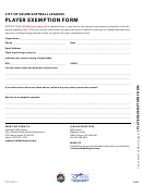 Player Exemption Form