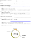 Mitosis And Meiosis Webquest Template