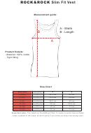 Rock & Rock Slim Fit Vest Size Chart