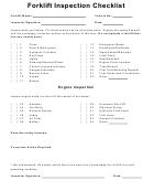 Forklift Inspection Checklist