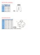 Adult Size Chart - Sweatpants And Hoodle