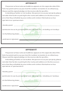 Affidavit Form - Virginia