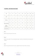 Clothing Size Chart - Nabbd