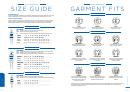 Size Guide & Garment Fits - Biz Collection Apparel