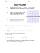 Semester Exam Review #2 Algebra 3 And Trigonometry