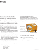Fedex Packaging Test Application Form