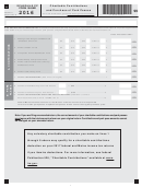 Schedule Cp Form 1040me - Charitable Contributions And Purchase Of Park Passes - 2016
