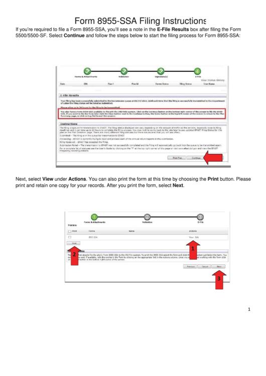 Form 8955-ssa Filing Instructions