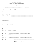 Grant Proposal Form - Department Of Health Education & Behavior