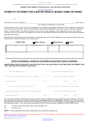 Form Hsmv 82053 Power Of Attorney For A Motor Vehicle Mobile Home