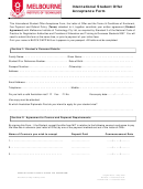 International Student Offer Acceptance Form