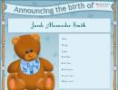 Boy Birth Announcement Template