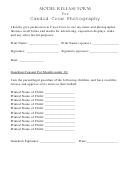 Model Release Form For Candid Crow Photography