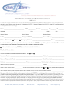 Adult Release Of Liability And Medical Consent Form