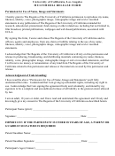 Multimedia Release Form - University Of California, Los Angeles