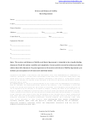 Waiver And Release Of Liability Rental Agreement