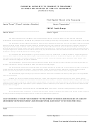 Parental Authority To Consent To Treatment Of Minor And Release Of Liability Agreement Template