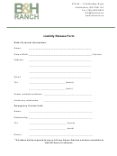 Liability Release Form