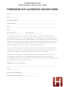 Permission Slip And Medical Release Form
