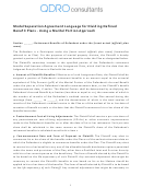 Model Separation Agreement Language For Dividing Defined Benefit Plans Using A Marital Portion Approach