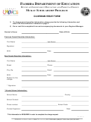 Mckay Scholarship Program Guardian Issue Form