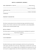 Rental Agreement (generic) Template