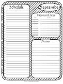 September - Monthly Planner Template