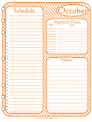 October - Monthly Planner Template