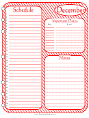 December - Monthly Planner Template