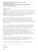 Johns Hopkins University Release And Waiver Of Liability Aap Research Projects, Thesis, Or Internships