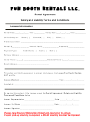 Rental Agreement Template - Fun Booth Rentals Llc.