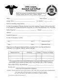Little League Baseball And Softball Medical Release