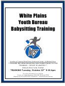 City Of White Plains Youth Bureau White Plains Youth Bureau Babysitter's Training Participation Form