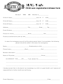 Child Care Registration Release Form