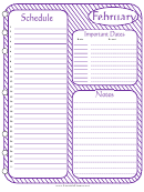 February - Monthly Planner Template