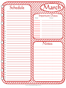 March - Monthly Planner Template