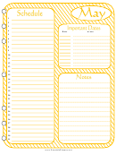 May - Monthly Planner Template