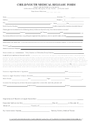 Child/youth Medical Release Form