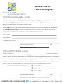 Release Form For Children's Programs