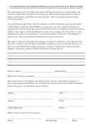 Transportation And Medical Release Consent Form For Minor Child