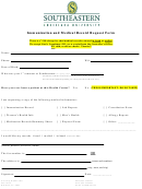 Immunization And Medical Record Request Form