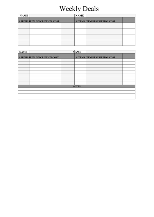 Weekly Staff Schedule Template. blank calendar template 5 day ...
