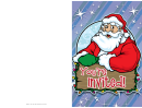 Christmas Santa Invitation Card Template