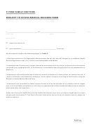 Request To Access Medical Records Form