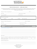 Employee Relations - Complaint Form - The University Of Tennessee