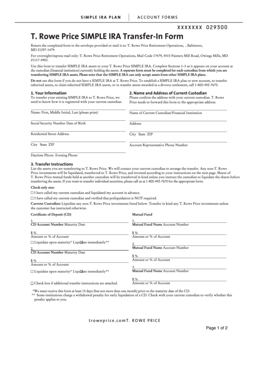 Top Ira Transfer Forms And Templates free to download in PDF, Word ...