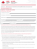 Form D - Educational Credential And Qualifications Assessment Document Request Form