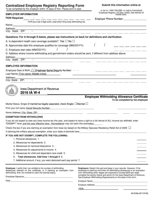 Iowa W-4 - Siouxland Mental Health - Centralized Employee Registry ...