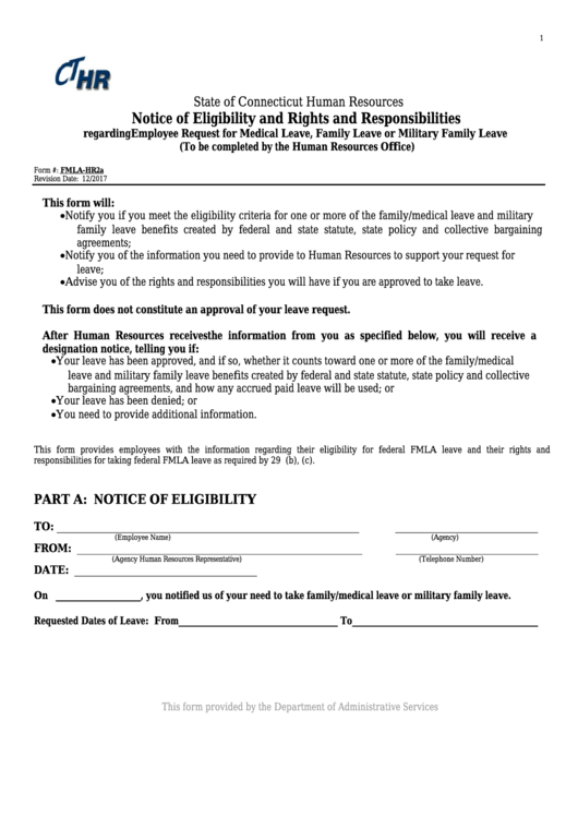 Top 5 Fmla Eligibility Form Templates Free To Download In Pdf Format