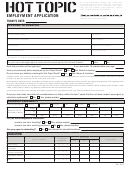 Employment Application - Hot Topic - Job Application Review